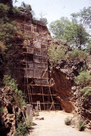 Image of Zhoukoudian Locality 1. Taken from:http://people.bu.edu/paulberg/china_zh.html